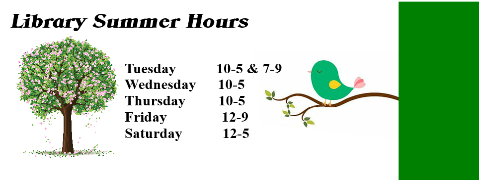Library Summer Hours - website